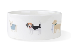 HAPPY BREEDS STRAIGHT PET BOWL - Large