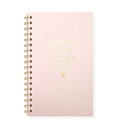 PAWSITIVE VIBES FAUX LEATHER SPIRAL JOURNAL - Large