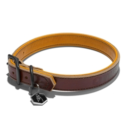 Horween Leather Tan Dog Collars & Leads by Wolfgang