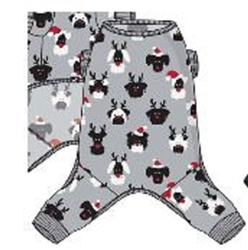 AOP Plush Fleece Pajamas - Crown Jewel