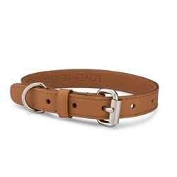 Caramel Pebble Leather Collar