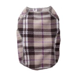 Cloak & Dawggie - Pattern Fleece Sweater, Tan Plaid
