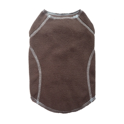Brown Fleece Sweater by Cloak & Dawggie