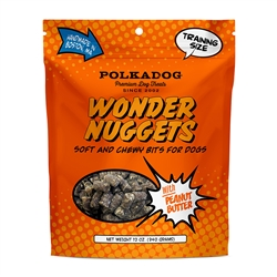 Wonder Nuggets w/Peanut Butter 12 oz bag by Polka Dog