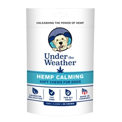 Hemp Calming Soft Chews for Dogs by Under the Weather