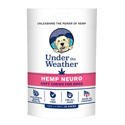 Hemp Neuro Soft Chews for Dogs by Under the Weather