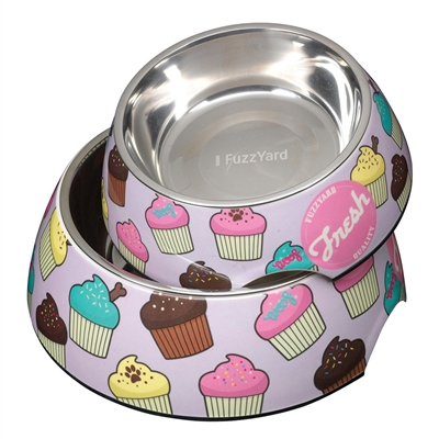 Fresh (Purple with Cupcakes) Easy Feeder Bowl