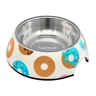 Go Nuts (Multicoloured Donuts) Easy Feeder Bowl