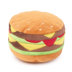 Hamburger Dog Toy by FuzzYard