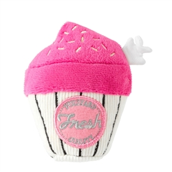 Pink Cupcake Dog Toy by FuzzYard