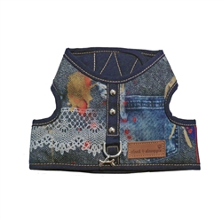 Cloak & Dawggie Classic Denim Lace Vest  Harness 4600 series