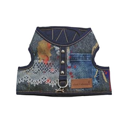 Cloak & Dawggie Classic Denim Lace Vest  Harness 4600 series
