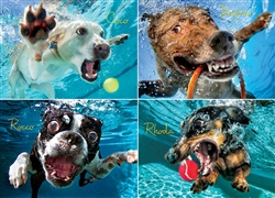 Underwater Dogs: Pool Pawty Puzzle - 1000 piece puzzle