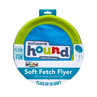 Blue Soft Fetch Flyer, Dog Fetch Toy
