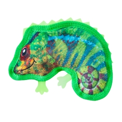 Tough Skinz Chameleon Plush Squeaky Toy for Dogs