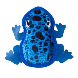 Tough Skinz Frog Plush Squeaky Toy for Dogs