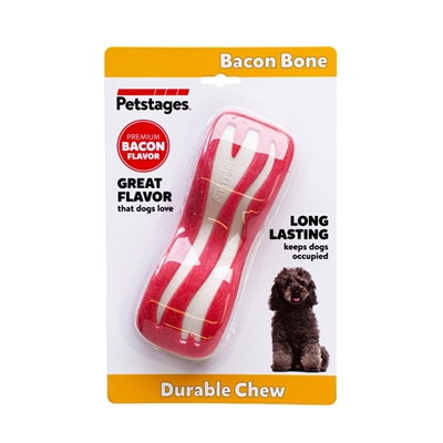 Bacon Dental Bone, Dog Chew Toy
