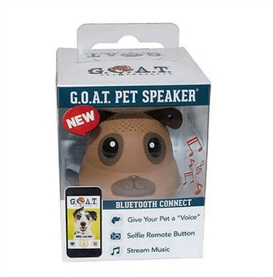 "G.O.A.T. Bluetooth Pet Speaker - ""Frankie the Pug"""