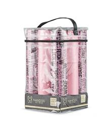 Words Print  Pink 16 Roll Packs of Designer Fashion Waste Bag Refills