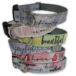 Be You! Collection Ribbon Dog Collars & Leashes by Poochie-Pets