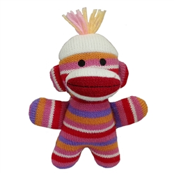 "Lulubelles - 7.5"" Baby Sock Monkey - Kitty Baby"