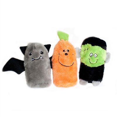 Halloween Squeakie Buddies -3-Pack (Frankenstein, Pumpkin, Bat)