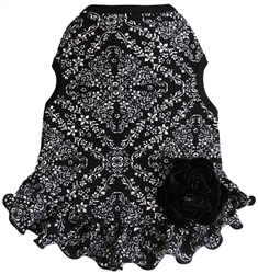 Petite Floral - Dress - Black/White