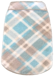 Plaid - Fleece Pullover - Blue/Grey