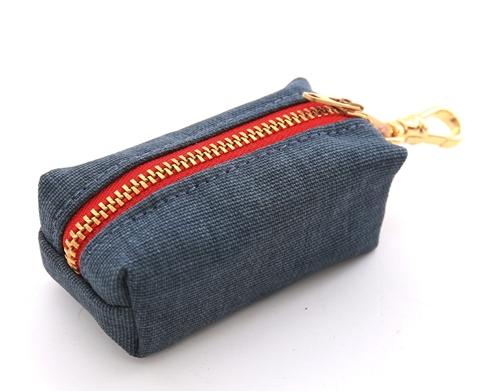 Dark Denim Waste Bag Holder