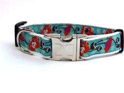 California Poppy Collar Silver Metal Buckles