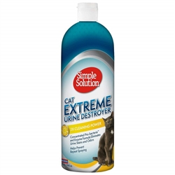Simple Solution Cat Urine Destroyer, USA Made - 32oz