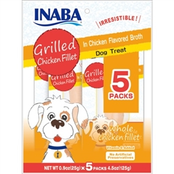 Inaba for Dogs Grilled Chicken Fillets  5 packs (1 piece per pack)