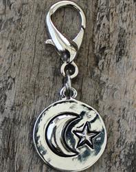 I Love You to the Moon and Back Dog Collar Charm