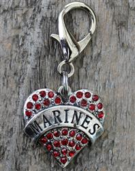 US Marines Dog Collar Charm