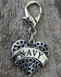 US Navy Dog Collar Charm