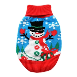 Christmas 100% Pure Combed Cotton Ugly Dog Sweater SNOWMAN