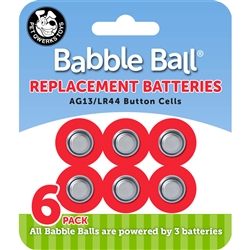 Babble Ball Replacement Batteries - 6 per carded pack