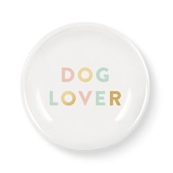 GRAPHIC DOG LOVER MINI ROUND TRAY