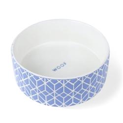 GRAPHIC DECO BLUE PET BOWL - MEDIUM