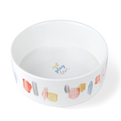 BRUSH HAPPY MARKS PET BOWL - MEDIUM
