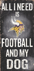 Minnesota Vikings Football and My Dog Sign