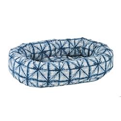 Shibori Microvelvet Donut Bed