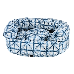 Shibori Microvelvet Double-Donut with Shibori Piping