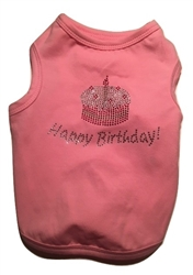 """Happy Birthday"" Tank Pink"