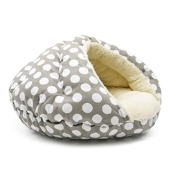 Burger Bed Polka Dots Gray