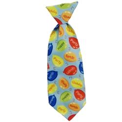 Huxley & Kent Party Time Blue Long Tie