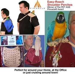 Easy Ride Bird Shoulder Perch with Droppings Pouch
