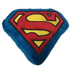 Buckle-Down Plush Squeaky Dog Toy, Superman or Batman