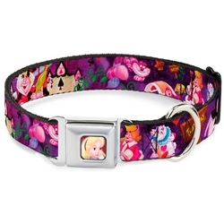 Alice & the Queen of Hearts Scenes Seatbelt Buckle Dog Collar and Lead by Buckle-Down