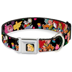 Alice's Encounters in Wonderland Seatbelt Buckle Dog Collar and Lead by Buckle-Down